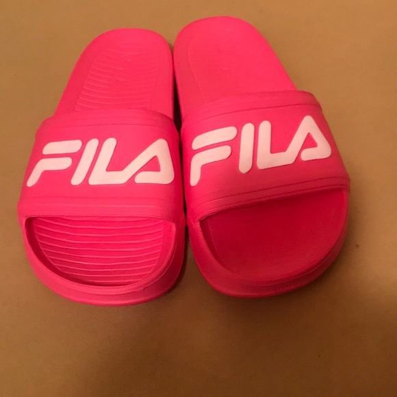 2e87544d6356 Fila Shoes - FILA Women s Drifter Pink Slide Sandals NEW